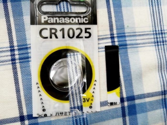 テルモの体温計C202の電池はCR1025