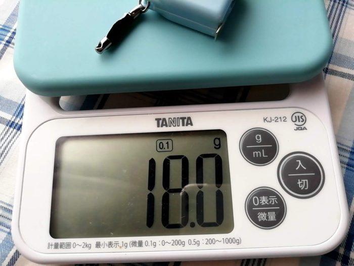 高儀 ラバー付キーコンベ6mm×1mのラバーを外した重さは18g