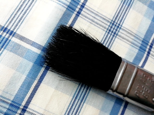 大塚刷毛 中国ラスター刷毛 #356 平 黒 1インチの毛先