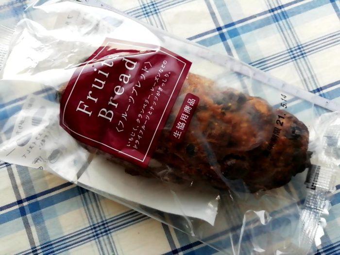 タカキベーカリーのフルーツブレッドの包装