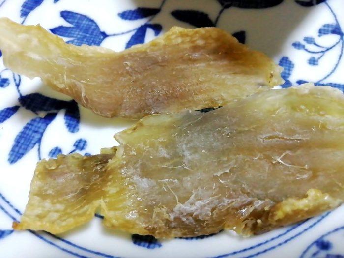 幸田商店の訳あり ほしいも セッコウをトースターで焼いた後