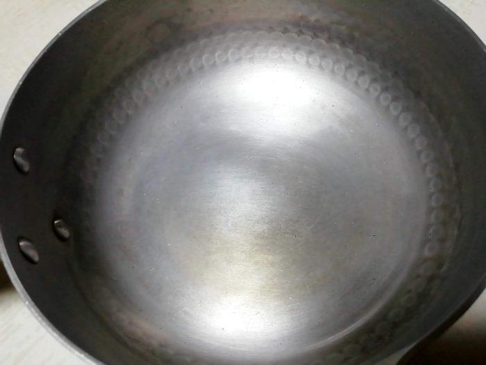クエン酸で綺麗になったアルミ鍋