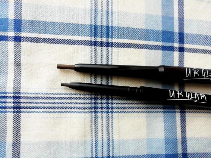 100均ダイソーのURGLAMのアイブロウペンシルの芯の細さ