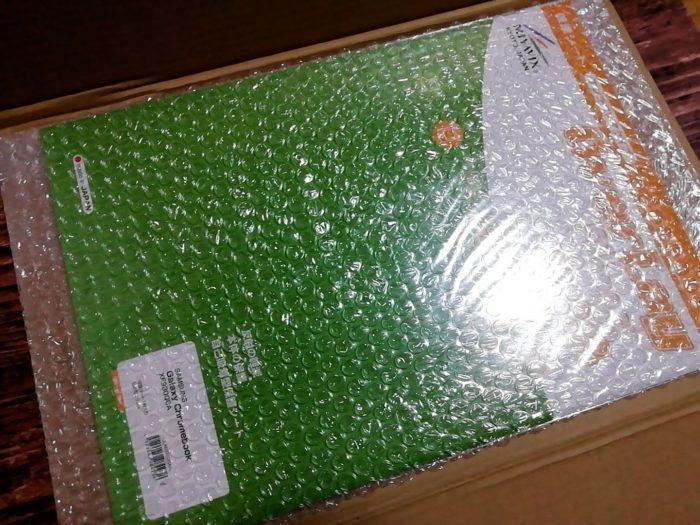ミヤビックスの液晶保護フィルムの梱包