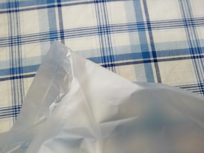 マチのある生協のキッチン用ポリ袋の端っこ
