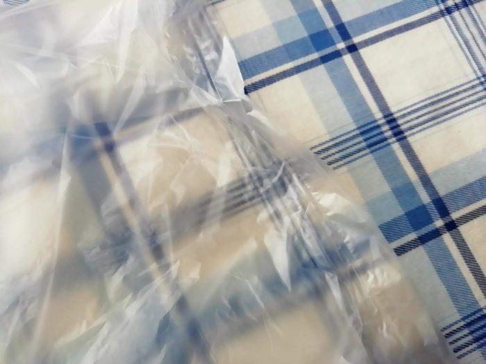 マチのある生協のキッチン用ポリ袋のどこを切るべきか