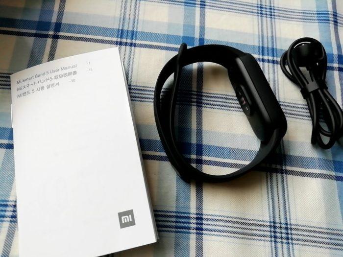 Xiaomi Miスマートバンド5の付属品