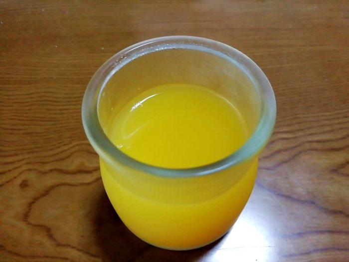 みかんジュースで作ったゼリー